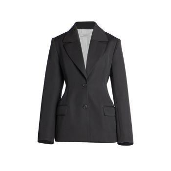 Куртка строгого кроя из смесовой шерсти Nina Ricci