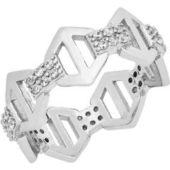Кольцо с шестигранной якорной цепью Sterling Forever