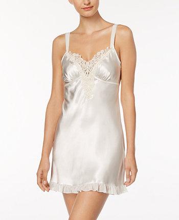 Атласная ночная сорочка Midnight Short Chemise Nightgown Linea Donatella