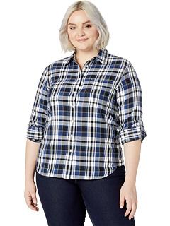 Классическая хлопковая рубашка большого размера Ralph Lauren