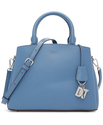 Кожаная сумка-портфель среднего размера Paige DKNY