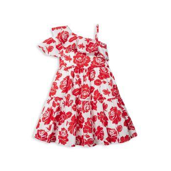 Little Girl's & Girl's Floral Cold Shoulder Dress Janie and Jack
