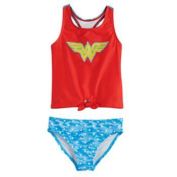 Girls 4-6x Wonder Woman Tankini Swimsuit Licensed Character
