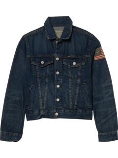 Хлопковая джинсовая куртка Trucker (для больших детей) Ralph Lauren