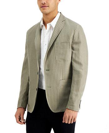 Мужской приталенный полосатый пиджак INC, созданный для Macy's INC International Concepts