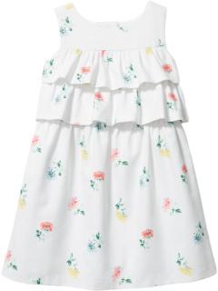 Платье с многоуровневым верхом и цветочным рисунком (для малышей / маленьких детей / детей старшего возраста) Janie and Jack