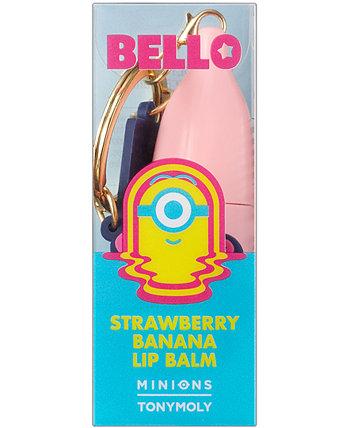 Миньоны клубничный банановый бальзам для губ TONYMOLY