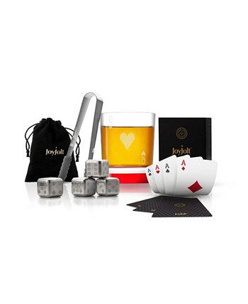 Подарочный набор виски Poker Queen of Hearts JoyJolt