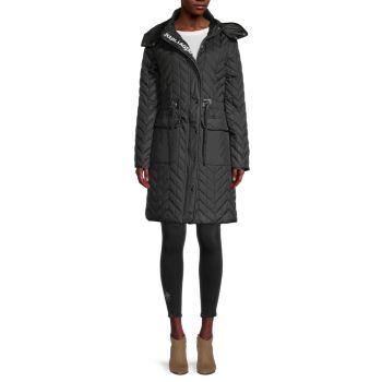 Стеганая куртка с шевронами Karl Lagerfeld Paris