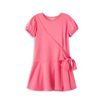 Little Girl's Wrap Knit Dress