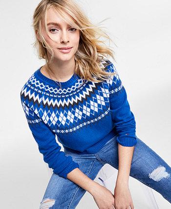Укороченный свитер с ромбами Tommy Jeans