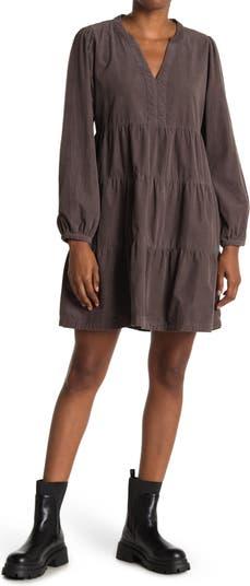 Многоярусное платье прямого кроя с V-образным вырезом Velvet Heart