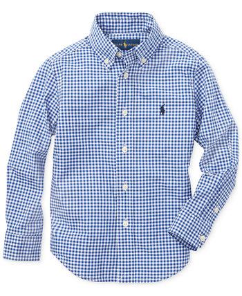 Рубашка из хлопкового поплина Little Boys Ralph Lauren