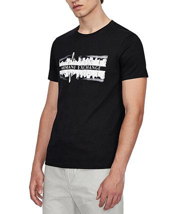 Мужская футболка с логотипом Black City Armani Exchange