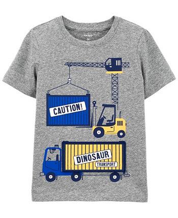Строительная футболка Peek-A-Boo из джерси для малышей Carter's