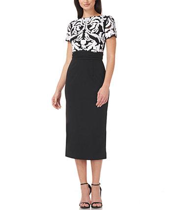 Платье миди с сутажным верхом JS Collections