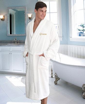 """Махровый халат с вышивкой """"Жених"""" Linum Home"""
