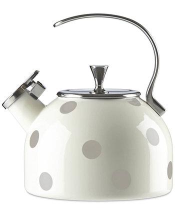 New York All in Good Taste Deco Dot Чайник для чая Kate Spade