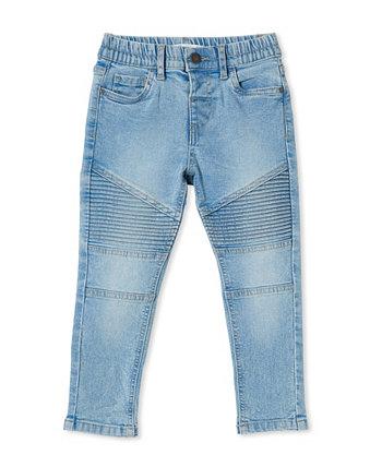 Little Boys Skinny Fit Moto Jeans COTTON ON