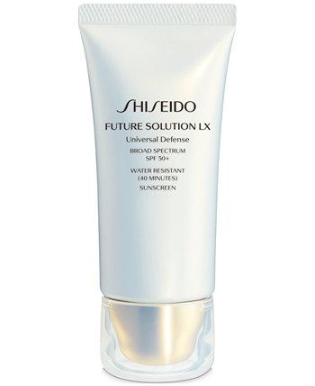 Future Solution LX Универсальный защитный солнцезащитный крем широкого спектра SPF 50+, 1,7 унции. Shiseido