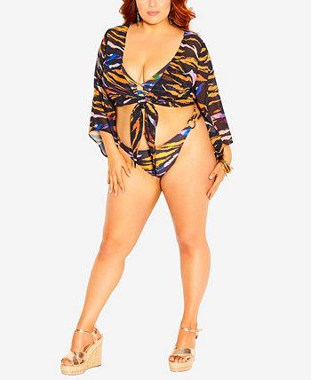 Топ-рубашка больших размеров Amara City Chic