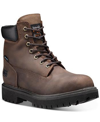 """Мужские прямые ботинки PRO 6 """"со стальным носком утепленные сапоги Timberland"""