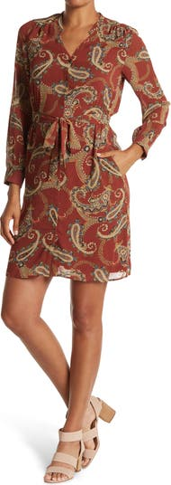 Платье с длинными рукавами на пуговицах спереди Daniel Rainn