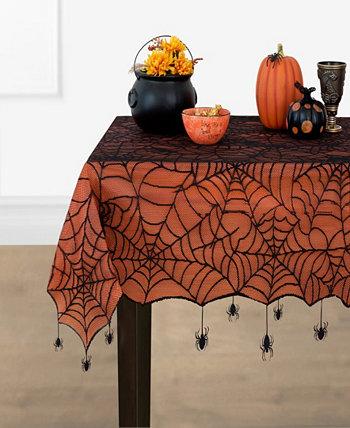 """Скатерть на кружевной подкладке «Ползучий паук на Хэллоуин» - 60 """"x 84"""" Elrene"""