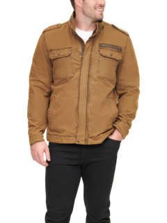 Хлопковая куртка в стиле милитари с воротником-стойкой Big & Tall - Tall Levi's®