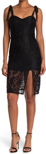Кружевное платье миди Amelia Sweetheart с завязками на бретелях NSR
