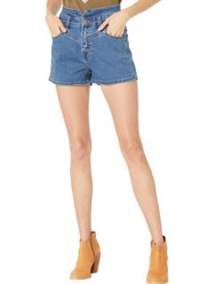 Джинсовые шорты с высокой посадкой средней стирки 68H8203 Rock and Roll Cowgirl