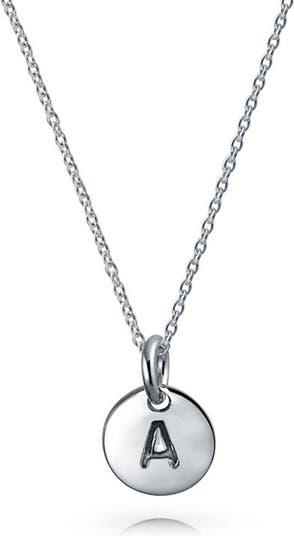 Серебряное минималистичное колье с подвеской-подвеской в стиле минимализма Bling Jewelry