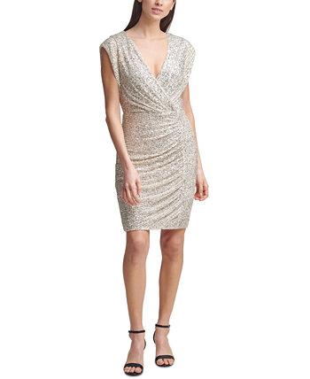 Платье-футляр с пайетками Eliza J