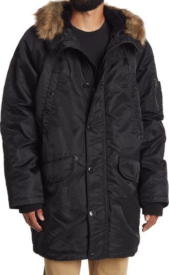 Куртка Flight Satin с капюшоном с отделкой из искусственного меха Levi's®