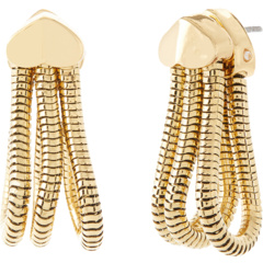Маленькие серьги-кольца Know The Ropes в форме змеи Kate Spade New York