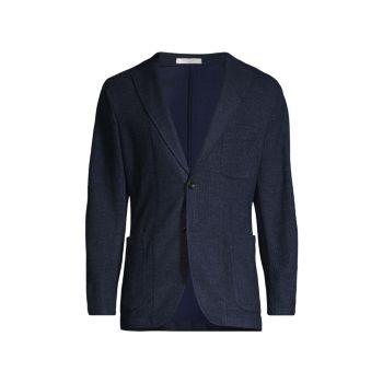 Пиджак с меланжевым трикотажным трикотажем BOGLIOLI