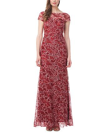 Кружевное платье с цветочным принтом JS Collections