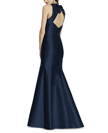 Bow-Back Труба Платье Alfred Sung