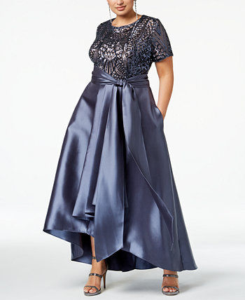 Плюс Размер Хай-Лоу платье R & M Richards