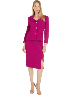 Two-Piece Nested Suit with Double Collar Jacket and Slim Skirt Tahari by ASL
