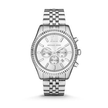 Часы с хронографом из нержавеющей стали Lexington с браслетом Michael Kors