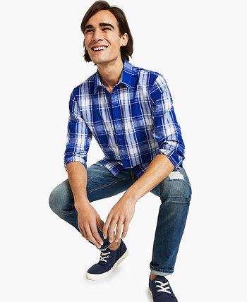 Мужская рубашка в клетку Victor, созданная для Macy's Sun + Stone