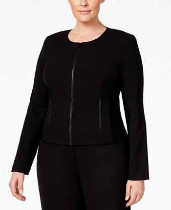 Большие размеры, подходящие решения, куртка на молнии спереди Calvin Klein