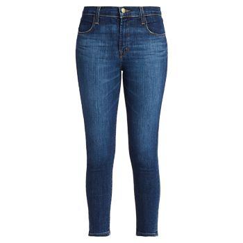 Укороченные джинсы-скинни Alana со средней посадкой J Brand