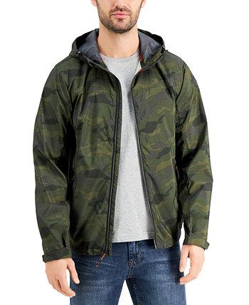 Мужская всесезонная легкая куртка-дождевик с капюшоном из эластичного материала Hawke & Co.