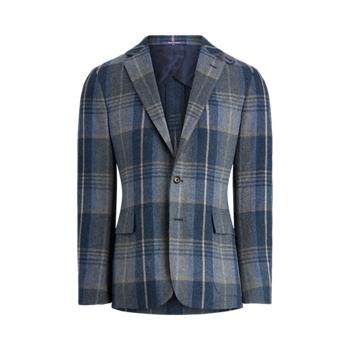 Спортивное пальто из шерсти и кашемира в клетку Hadley Ralph Lauren