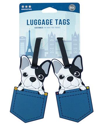 2-шт. Набор багажных бирок для собак Bon Voyage