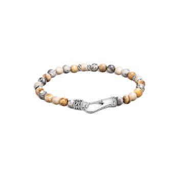 Классический браслет-цепочка из нескольких камней и стерлингового серебра из бисера JOHN HARDY