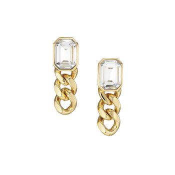 Krome 10K Goldplated & Crystal Drop Earrings DANNIJO