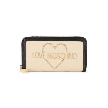 Кожаный кошелек Porta LOVE Moschino
